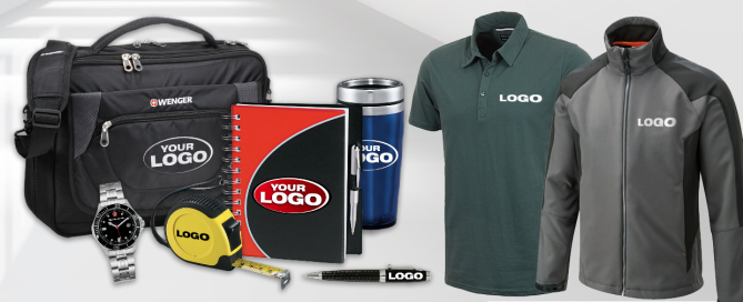 Promotional shirts, cups, bags and more