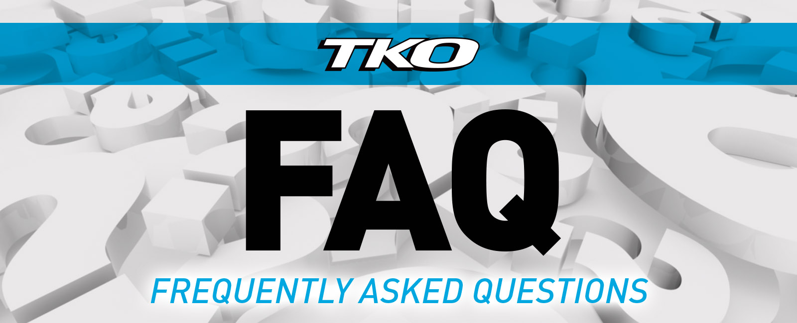 TKO logo with FAQ