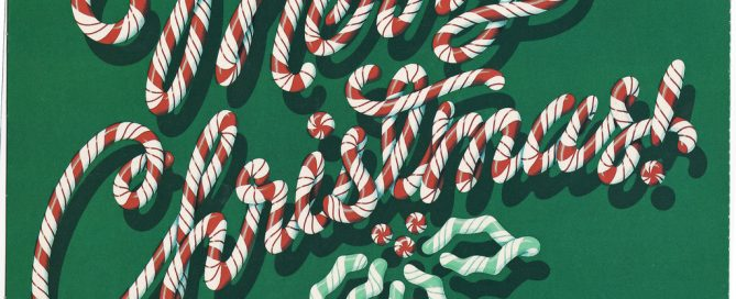 merry Christmas spelled with candy canes