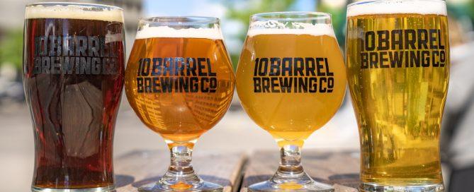 4 glasses full of beer